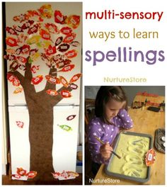 Learn to spell kids names this way. Great ideas for multi sensory ways to learn spellings. Make it easier for kids! Spelling Activities, Literacy Activities, Childhood Education, Kids Education, Early Learning, Kids Learning, Learn To Spell, Toddler School, Teaching Reading