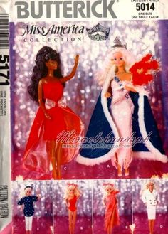 Herbie's Doll Sewing, Knitting & Crochet Pattern Collection: Miss America Collection