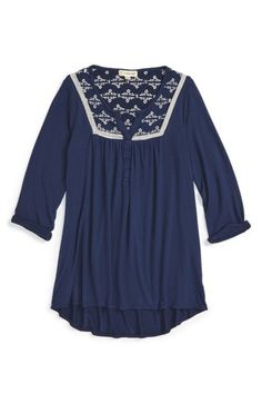 Tucker + Tate Embroidered Henley (Big Girls) available at #Nordstrom