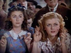 Juanita Quigley and Angela Lansbury in '' National Velvet''  1944