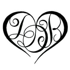 Gallery For > Heart Tattoo With Initials Inside More