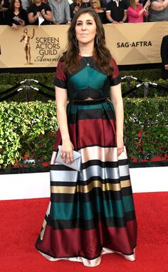 Mayim Bialik from 2017-sag-awards-red-carpet-arrivals | E! Online