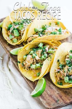 How to Make Chicken Tinga Tacos - learn how to make this classic chicken tinga tacos recipes that is served with a corn tortilla with lime, avocado, onions and cheese! #chicken #chickenrecipes #chickentacos #tacos #tacotuesday #tinga #mexican #mexicanfood #mexicanfoodrecipes #streettacos