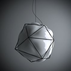blown glass lamp by valerio sommella