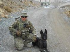 U.S. Navy MASN Duane Jones and his MWD Barry