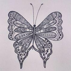 Hand drawn Butterfly - from 'Patterned animal illustration' series  #art #artwork #illustration #sketch #drawing #pattern #butterfly #design #sketchbook #penart #lineart #mystaedtler #artist #zentangle #hennadesign #doodle #india #animalart #creative #artsy #arts_help #art_spotlight #artistsoninstagram #instaartist #intricate #handdrawn #artoftheday #nature #picoftheday #animalart