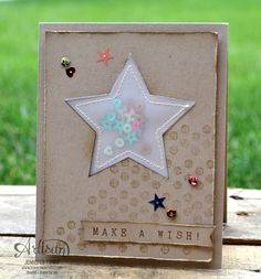 I love this sequin star pouch! Pretty card from Stampin Up artisan Jennifer Timko. Card Making Inspiration, Making Ideas, Star Cards, Paper Cards, Vellum Paper, Birthday Cards For Men, Scrapbook Cards, Scrapbooking, Card Tags