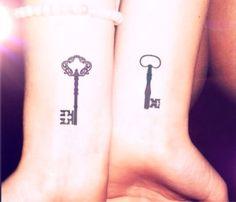 2pcs Vintage key set tattoo - InknArt Temporary Tattoo - wrist tattoo body sticker fake tattoo quote on Etsy, $3.99