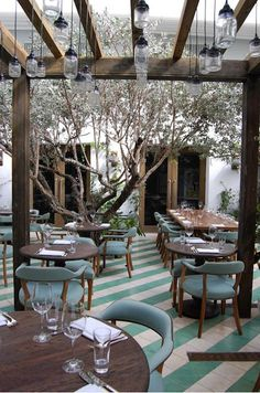 Outdoor Mason Jar Lights at Cecconis in Miami by Martin Brudnizki