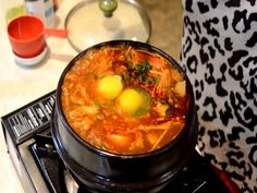 How To Cook Spicy Korean Beef & Seafood Extra Soft Tofu Soup Recipe Video by kungpaohottie | iFood.tv