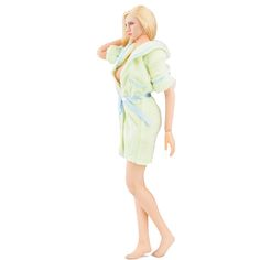 """1/6 Scale Customize Clothing Sexy Green Pajamas Bathrobe For 12"""" Phicen Female Large Bust Figure Doll Toys Accessories"""