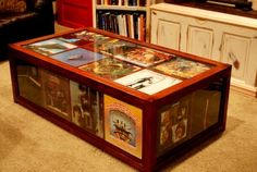 Vinyl record coffee table. Yes. Woodworking Projects | Jim Cardon Customs