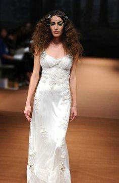 Claire Pettibone - Sweetheart Sheath Gown in Silk