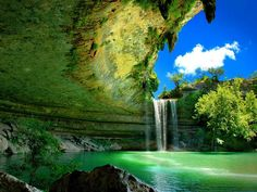 Hamilton Pool: The pool is located about 23 miles west of Austin, Texas off Highway 71