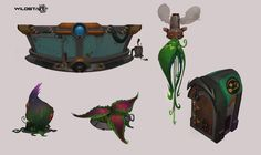 "Wildstar props and such., daniel ""red"" stultz on ArtStation at https://www.artstation.com/artwork/3vx5g"