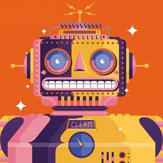 A little preview of something we are busy with for the fine folks over at Elle decoration. #home #interiors #robots #illustration #cleaning #tinrobot #future #illustree #vector #bestvector #madebyradio by madebyradio