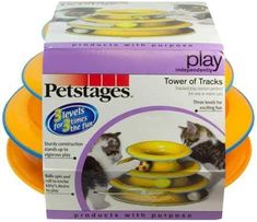 Petstages Tower of Tracks Cat Toy – 3 Levels of Interactive Play – Circle Track with Moving Balls Satisfies Kitty's Hunting, Chasing & Exercising Needs Cool Cat Trees, Cool Cats, Robot Cat Toy, Best Interactive Cat Toys, Fish Cat Toy, Paws And Claws, Pet Toys, Pet Care, Pet Supplies