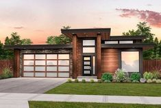 This one-story contemporary house plan offers affordable living with four bedrooms and three bathroo Modern Floor Plans, Modern House Plans, Modern House Design, Small Contemporary House Plans, The Plan, Style At Home, Single Floor House Design, House Plans One Story, 1 Story House