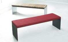 """Products - Ayre   60"""" L x 18"""" D, steel, upholstered, wood   HighTower"""