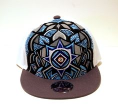 custom painted snapback with glow in the dark eye center .  30 on etsy! 24667872cbb