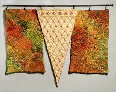Embroidery inspired by the work of Julia Caprara International Craft, Unity In Diversity, Thread Art, Craft Work, Felt Crafts, Beaded Embroidery, Textile Art, Fiber Art, Bohemian Rug
