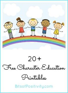 20+ free character education printables for Character Counts! Week or any time throughout the year for home or classroom