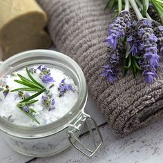 Epsom salt detox bath soothes away pain and stress.