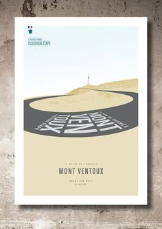 Personalised Mont Ventoux - Le Géant de Provence Every road cyclist dreams of conquering the most iconic climb of the Tour de France. If you to have achieved this great ascent, why not treasure that moment with this personalised print. Just send me your name, date of ascent and Ill do the