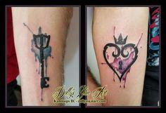 1891c6573 key heart locket black blue purple watercolour matching couple arm tattoo  kamloops dolly's skin art Locket
