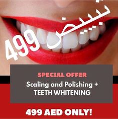 Hurry! Call us and Avail for our Latest Promo for Whitening with FREE Scaling and Polishing all for 499AED Only at Modern Al SalamOrthodontic and Dental Center. Limited Offer until the end of the month. Hurry and flaunt those beautiful white pearly smile. _____________________________________________________  Book your appointment now and Experience Dentistry Without Compromise. Visit us today at Oud Al Toba Old Ministry of Education Building 2nd R/A Main Entrance to Building at the back…