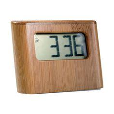 Pendule de bureau solaire bambou RV144 - - ObjetMania