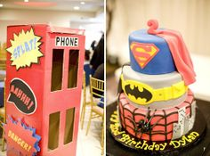 Love this second birthday super hero cake! katieechappelle    Clcik to take a survey with and recieve a free $100 giftcard to starbucks!