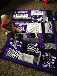 T-shirt quilt- This would be really nice for TCU shirts!