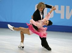Davis and White of U.S. during figure skating team ice dance short dance at the Sochi 2014 Winter Olympics