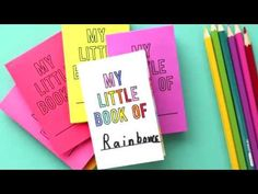 Foldable Book Instructions - YouTube Old Book Pages, Old Books, Craft Museum, Elementary Spanish, Rustic Crafts, Paper Crafts For Kids, Little Books, Mini Books, Templates