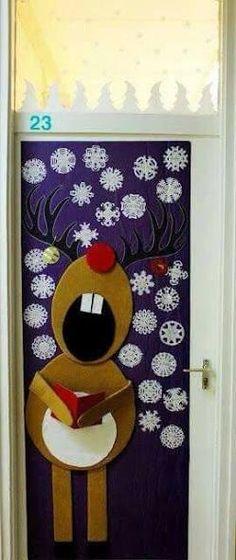 Resultado de imagem para portas decoradas de natal