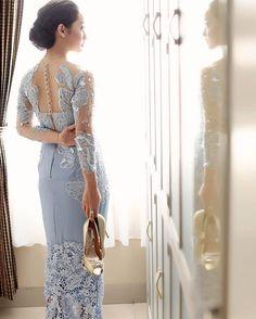New Dress Brokat Longgar 67 Ideas Vera Kebaya, Kebaya Lace, Batik Kebaya, Kebaya Dress, Batik Dress, Model Kebaya Modern, Kebaya Modern Dress, Dress Brukat, Lace Dress
