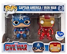 Funko Pop Captain America Civil War Exclusive 2Pack With Cap and Iron Man -- Read more  at the image link.