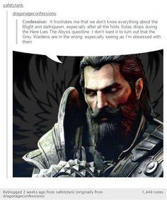 I love the repost XD Oh Blackwall. Dragon Age Rpg, Dragon Age Memes, Dragon Age Funny, Dragon Age Inquisition, Dragon Age Characters, Grey Warden, Necromancer, Skyrim, Nerd Stuff