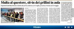 #28ottobre2014 #maggitti #angelo volpe tribunale sit in #multa #questore #m5s pescara