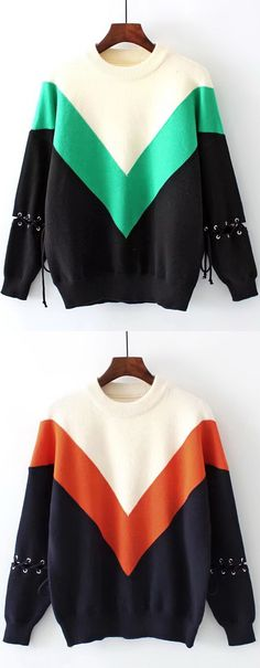 Up to 70% OFF! Color Block Drop Shoulder Lace Up Sweater.  Zaful,zaful.com,zaful online shopping, sweaters&cardigans, sweater,sweaters,cardigans,choker sweater,chokers,chunky sweater,chunky,cardigans for women, knit, knitted, knitting, knitwear, cardigan, cardigan outfit,women fashion,winter outfits,winter fashion,fall outfits,fall fashion, halloween costumes,halloween,halloween outfits,halloween tops. @zaful Extra 10% OFF Code:ZF2017