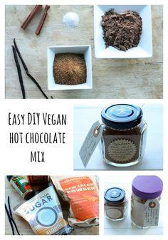 DIY Hot Chocolate Mix - 2 cups raw cacao powder (or regular cocoa powder) 1 3/4 cup vegan sugar of choice (coconut sugar, evaporated cane juice, demerara sugar, etc.) Seeds of 1 vanilla bean 1/4 teaspoon sea salt