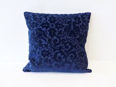 Blue Velvet Pillow Cover, Cushion Cover, Accent Pillow, luxury Pillow, Mid Century Modern Decorative Couch Pillow Handmade by EllaOsix by EllaOsix on Etsy