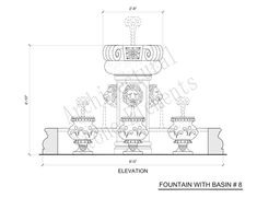 15th century fountain drawn by Viollet-le-Duc, France