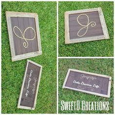 Matching Custom made rustic reclaimed wood rope initial, name a meaning by SweetD Creations