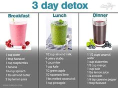 3 day detox 3 day detox Related posts:Alleged Vacation Spain you want lose weight, gain muscle or get fit!Four healthy infused water recipes, great as is, with ice, for any diet detox pr. Detox Diet Drinks, Detox Juice Recipes, Healthy Drinks, Detox Juices, 3 Day Detox Cleanse, Diet Detox, Healthy Cleanse, Three Day Cleanse, Veggie Smoothie Recipes