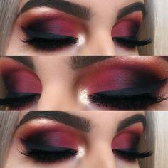 43 Christmas Makeup Ideas to Copy This Season , Matte Red Smokey Eye. , 43 Christmas Makeup Ideas to Copy This Season , Matte Red Smokey Eye. Makeup Goals, Makeup Hacks, Makeup Inspo, Makeup Inspiration, Makeup Tips, Makeup Ideas, Makeup Tutorials, Easy Makeup, Simple Makeup