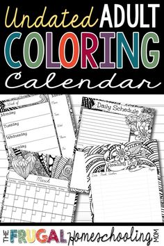 Here is a fun planner for homeschool with adult coloring pages - perfect for creative homeschool moms who also love keeping their days planned well. #free #homeschool #calendar #planner #homeschooling #homeschoolplanning #freeplanner #homeschoolcalendar Bird Coloring Pages, Adult Coloring Pages, Kids Learning Activities, Teaching Ideas, Best Planners, Print Calendar, Printable Planner, Homeschooling, Creative