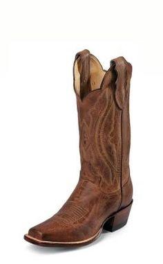 5868b31bbcfc47 Women s Justin Vintage Goat Boots Tan Distressed  L2680