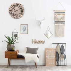 Ecru Cotton Woven Wall Hanging H 80 cm Bohemian Living Room, Home Decor Inspiration, Interior, Scandinavian Kitchen Design, Home Decor, Hallway Seating, Home Deco, Trending Decor, Chic Home Decor